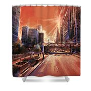 Chicaco Street 3 Shower Curtain
