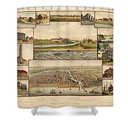 Chicago 1779-1857 Shower Curtain