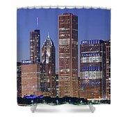 Chicago 2018 Blue Hour Shower Curtain