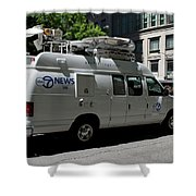 Chicago Abc 7 News Truck Shower Curtain