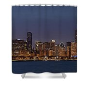 Chicago After Dusk Shower Curtain