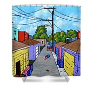 Chicago Alley Shower Curtain