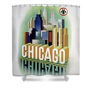 Chicago American Airlines 1950 Shower Curtain