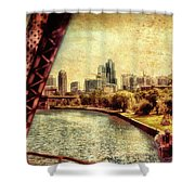 Chicago Approaching The City In June Textured Shower Curtain