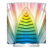 Chicago Art Institute Staircase Pa Prism Mirror Image Vertical 02 Shower Curtain