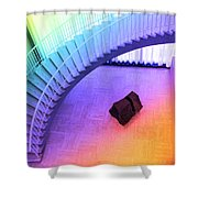 Chicago Art Institute Staircase Pa Prismatic Shower Curtain