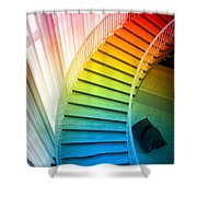 Chicago Art Institute Staircase Pa Prismatic Vertical 02 Shower Curtain