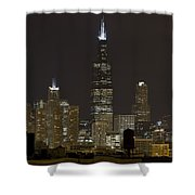 Chicago At Night I Shower Curtain