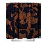 Chicago Bears Wood Fence Shower Curtain