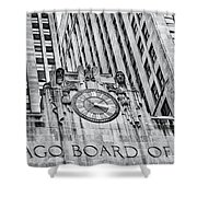 Chicago Board Of Trade Bw Shower Curtain