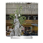 Chicago Board Of Trade Signage Shower Curtain