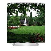 Chicago Botanical Gardens Landscape Shower Curtain