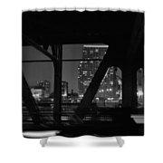 Chicago Bridge Night Shower Curtain