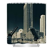 Chicago Bridges-2 Shower Curtain