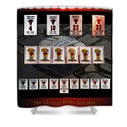 Chicago Bulls Banners Collage Shower Curtain