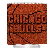 Chicago Bulls Leather Art Shower Curtain