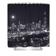 Chicago By Night Shower Curtain