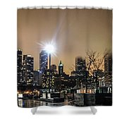 Chicago City At Night Shower Curtain