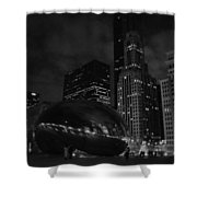 Chicago Cloud Gate Night Shower Curtain