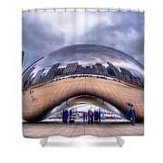 Chicago Cloud Gate Shower Curtain