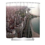Chicago Coastline Shower Curtain
