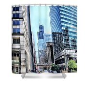 Chicago Concrete Canyons Shower Curtain