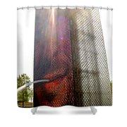 Chicago Crown Fountain 4 Shower Curtain