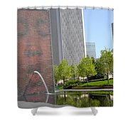Chicago Crown Fountain 8 Shower Curtain