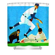 Chicago Cubs 1970 Program Shower Curtain