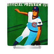 Chicago Cubs 1972 Official Program Shower Curtain