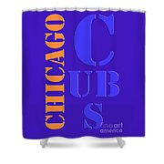 Chicago Cubs Baseball Team Vintage Original Typpography Shower Curtain