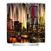 Chicago Draws The Curtain Shower Curtain