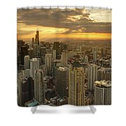 Chicago Evenings 2 Shower Curtain