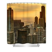 Chicago Evenings Shower Curtain