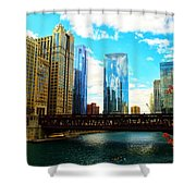 Chicago Fall Shower Curtain
