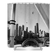 Chicago Ferris Wheel Skyline Shower Curtain