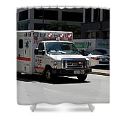 Chicago Fire Department Ems Ambulance 35 Shower Curtain