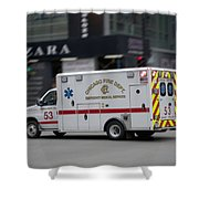 Chicago Fire Department Ems Ambulance 53 Shower Curtain