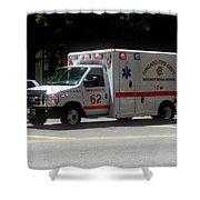 Chicago Fire Department Ems Ambulance 62 Shower Curtain