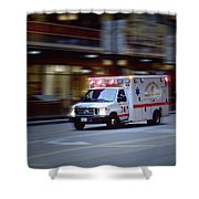 Chicago Fire Department Ems Ambulance 74 Shower Curtain