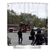 Chicago Fire Department Truck 13 Shower Curtain