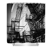 Chicago Fire Escapes 2 Shower Curtain