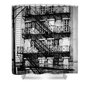 Chicago Fire Escapes 3 Shower Curtain