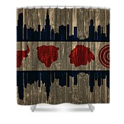 Chicago Flag Barn Door Shower Curtain