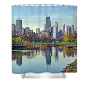 Chicago From Lincoln Park Shower Curtain