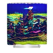 Chicago Gold Coast Abstract Shower Curtain
