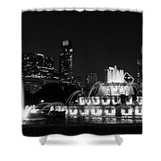 Chicago Grant Park Grayscale Shower Curtain