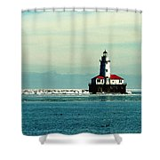Chicago Harbor Light Shower Curtain