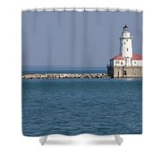 Chicago Harbor Lighthouse Shower Curtain