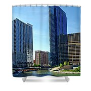 Chicago Heading Up The North River Branch Shower Curtain